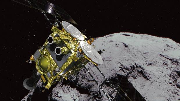 Japan landed two rovers on an asteroid's surface after four years