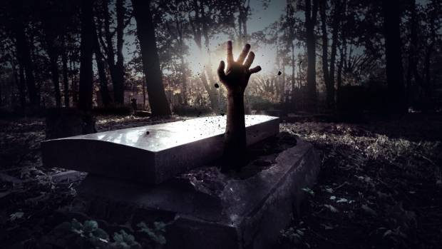 Sleep in coffin for 30 hours, earn $300 in creepy contest
