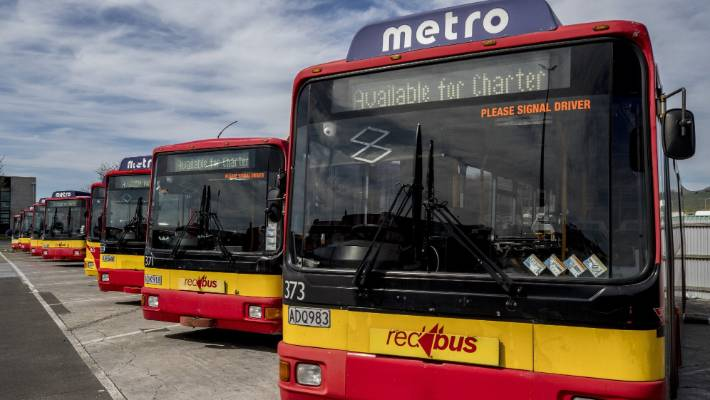 A cyclist was seriously injured after he hit the window of a Red Bus in Christchurch. (file photo)