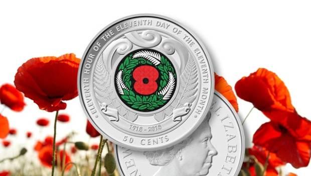 De 50 cent-munt van de wapenstilstand wordt uitgegeven door de centrale bank ter herdenking van het eeuwfeest van het einde van de Eerste Wereldoorlog.