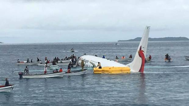 Passenger plane crash landed into the ocean