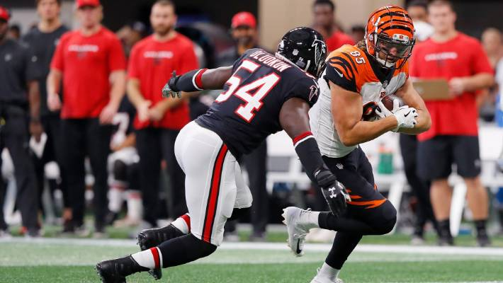 c4caaeb58 Cincinnati Bengls tight end Tyler Eifert makes a catch against the Atlanta  Falcons on Monday.