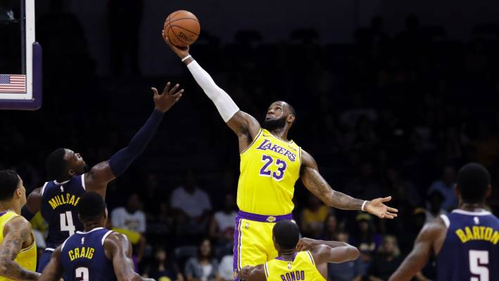 reputable site 25bfe a3279 LeBron James makes LA Lakers debut | Stuff.co.nz