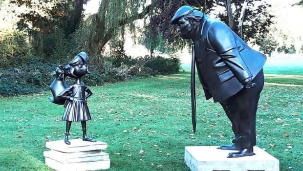 Roald Dahl's Matilda Faces Down Trump in New Statue Installation