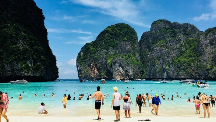 Maya Bay Became A Tourist Hotspot