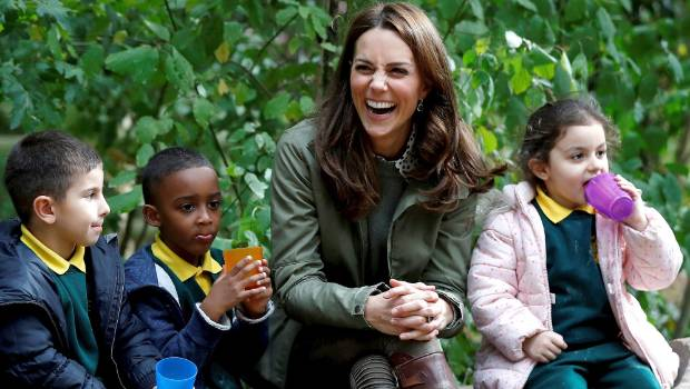 Duchess Catherine goes on spider hunts with her children