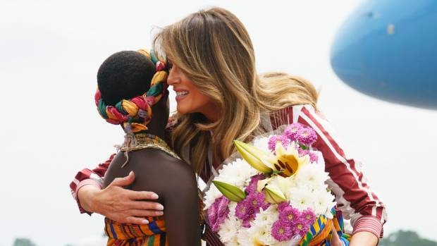 Melania Trump recycles $595 Veronica Beard jacket in Ghana