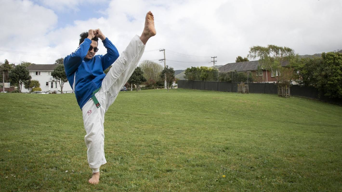 Partial-blindness no barrier to Wellington's competition-winning taekwondo fighter