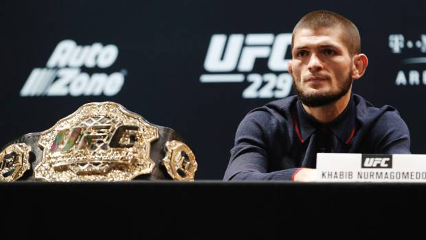 Khabib Nurmagomedov receives hero's welcome as he lands home in Russian Federation