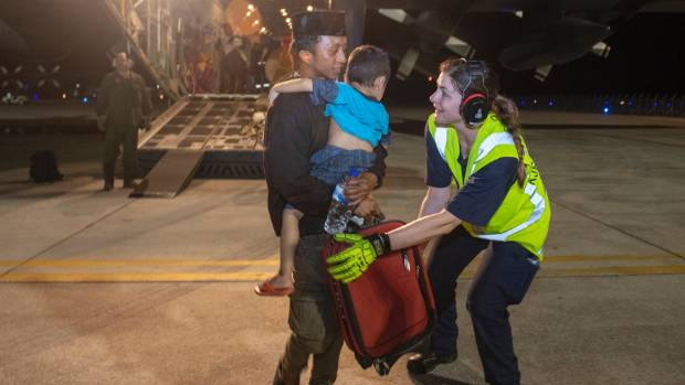 'Palpable sense of relief' as NZ Defence Force evacuates quake  victims