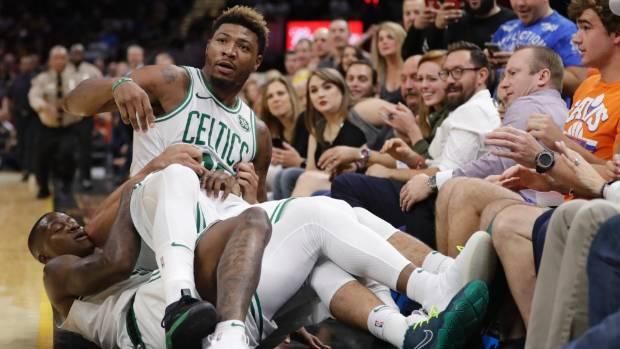 NBA fines Boston's Smart, Cavs' Smith for pre-season scuffle