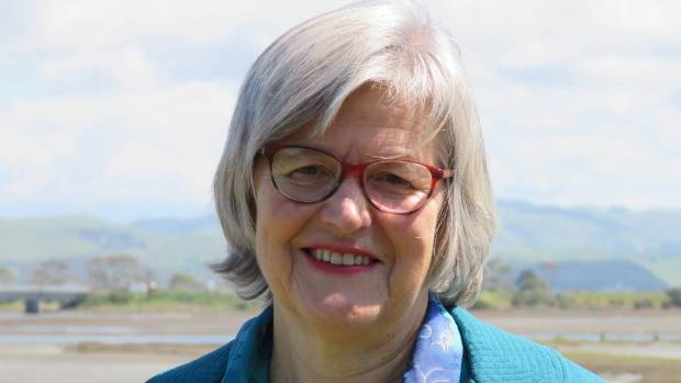 Conservation Minister Eugenie Sage at Napier's Ahuriri Estuary on Tuesday.