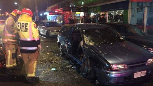 Abrams was injured in a car accident on Mt Eden Rd and boxed in by a parked car and the drink-driver's car.