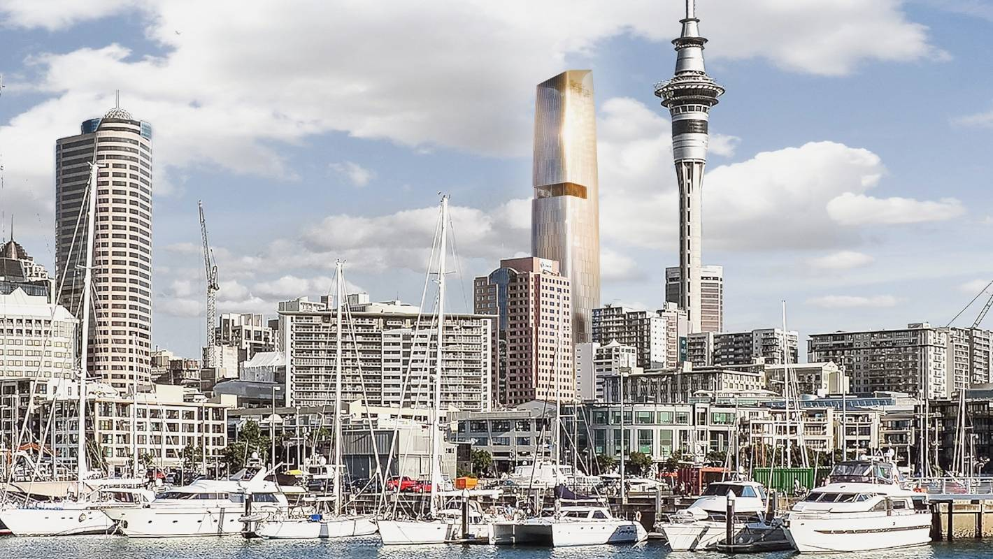200 million tower with sky high public zen garden. Black Bedroom Furniture Sets. Home Design Ideas
