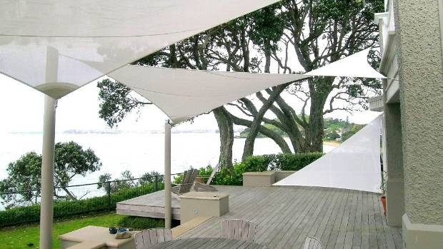 Hobbs sails from ShadeSails ensure this deck can be enjoyed right through the summer.