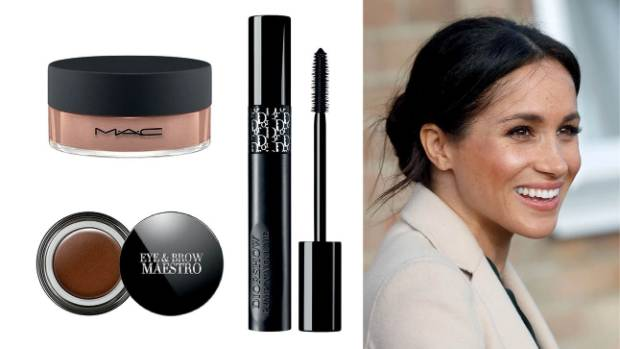 From top left: MAC Iridescent loose powder, $60; Giorgio Armani Eye & Brow Maestro all-in-one, $54 at Smith & Caughey's; ...