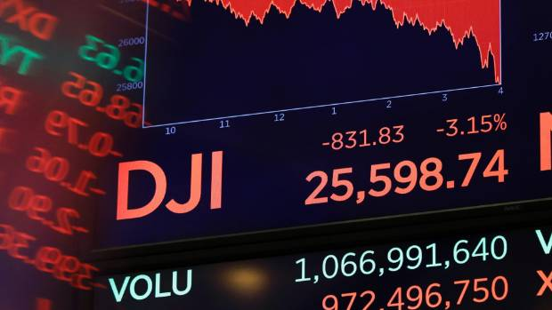 Trump 'disappointed' in Fed chair Jerome Powell as global stocks tumble