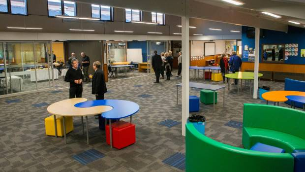 Timaru & # 39; s Mountainview High School: another example of a wide open ILE learning hub space added in 2016.