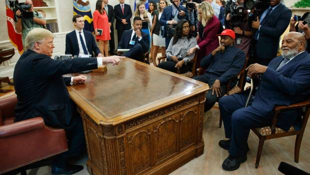 'TRUMP ON HERO'S JOURNEY': Kanye West's free-style riffs dominate Oval Office