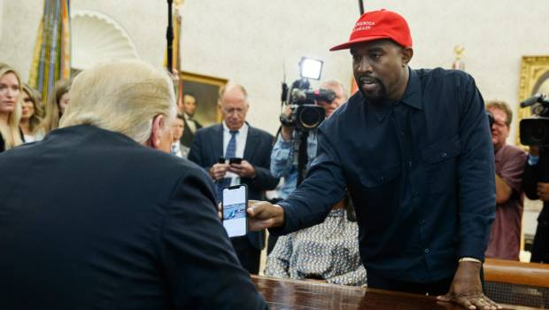 After White House visit, Kanye West stops by Apple store in Georgetown