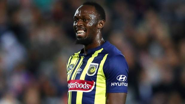 Usain Bolt scores two goals in trial game for Central Coast Mariners