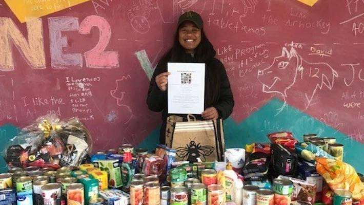13 Year Old Auckland Girl Asks For Food To Feed The Homeless Her Birthday