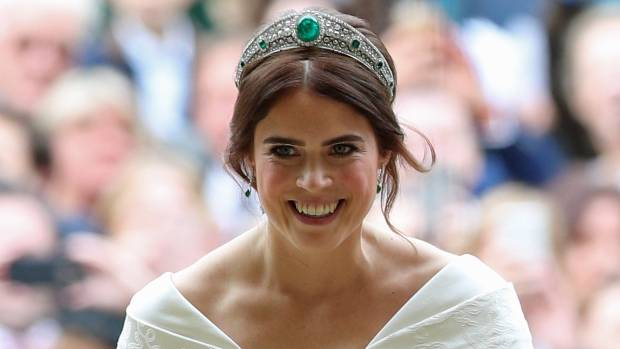 First glimpse of what Princess Eugenie wore to wedding dinner