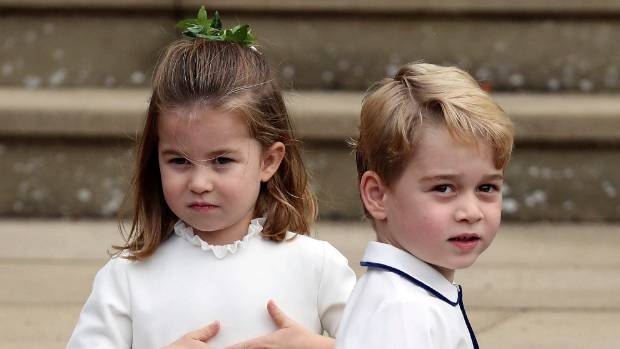 Princess Charlotte Takes A Fall At Princess Eugenie's Royal Wedding