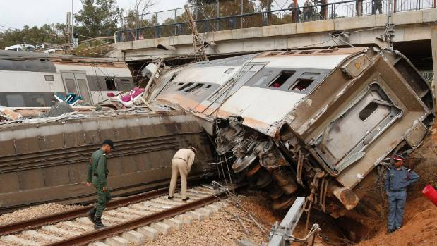 Seven killed in Morocco train derailment