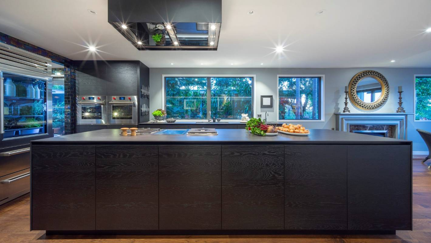 Chef\'s iridescent kitchen designed for cooking on a grand scale ...