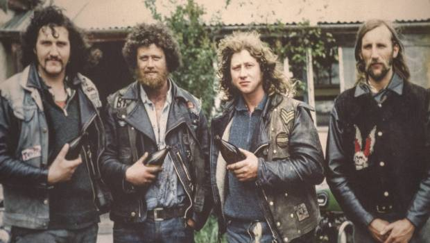 Founding members of the Devils Henchmen in 1978, from left, Smiley, Bird, Pogal and Woody