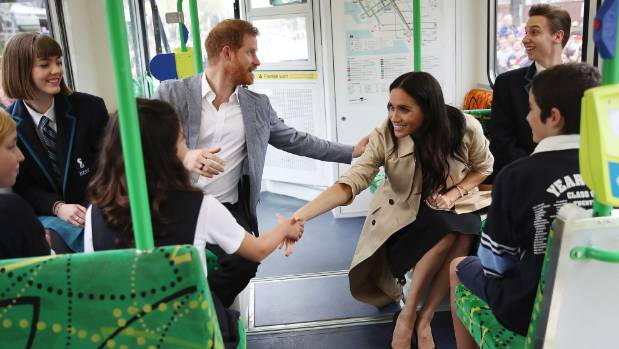 Meghan Markle and Prince Harry talk baby names on Melbourne tram