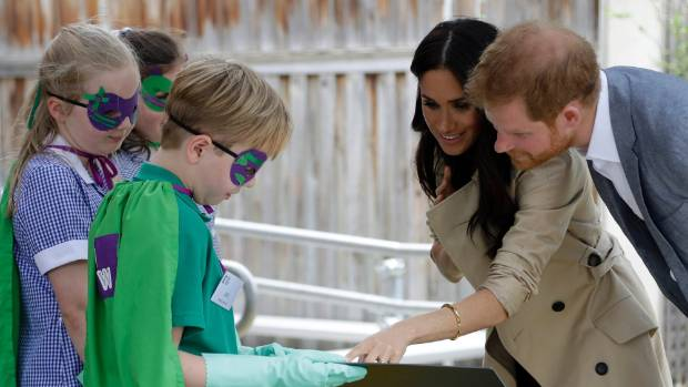 Pregnant Meghan Markle and Prince Harry visit Melbourne