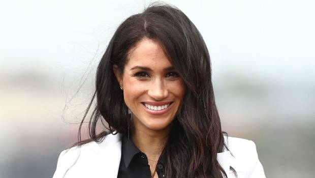 Meghan Markle Dazzles In Glamorous Blue Dress With A Cape
