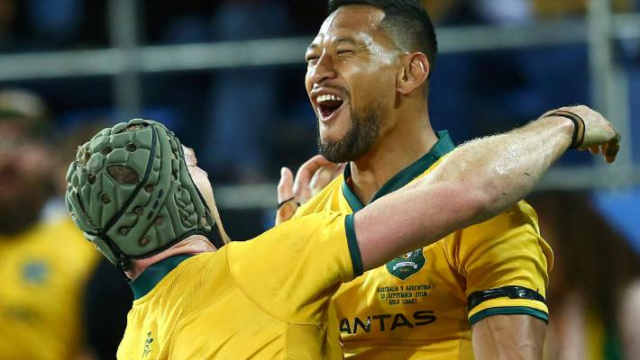 Israel Folau stays silent after telling gay people 'hell awaits them'
