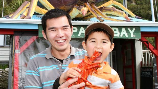 Crayfish isn't just for those who can afford tables in fancy restaurants in NZ.