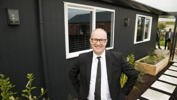 Minister of Housing and Urban Development Phil Twyford at Thursday's announcement.