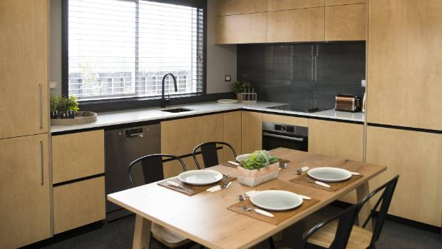 A KiwiBuild showhome kitchen at The Lakeside development.