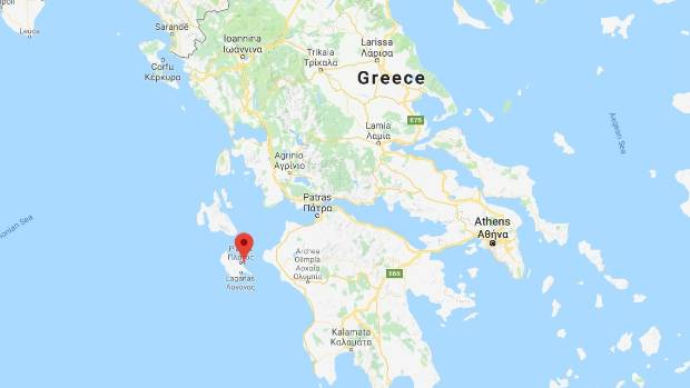 Strong natural disaster  hits off Greek tourist island