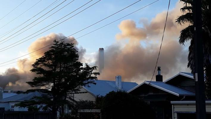Fire at New Plymouth scrap metal yard next to natural gas