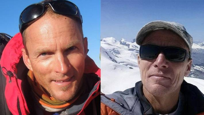 Hess, left, and WolfgangMaier both died on October 31 after an avalanche on Mt Hicks, near Aoraki/Mt Cook.