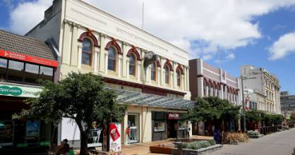 North-facing Esk St buildings on the inner-city Invercargill block scheduled for massive redeveloment.