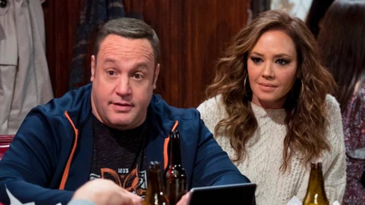 "Sorry... did you say ""cancelled? Kevin James and Leah Rimini in Kevin Can Wait."