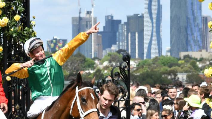 The Cliffsofmoher put down after fracturing shoulder during Melbourne Cup