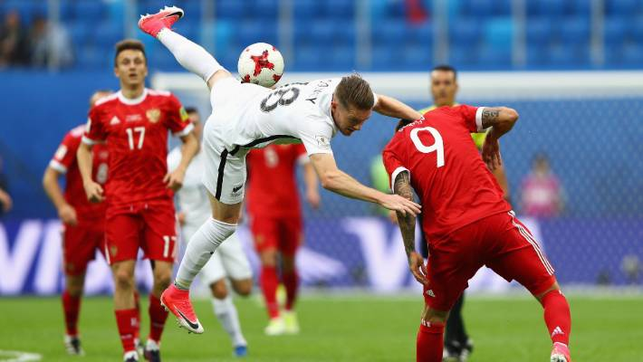 Kip Colvey takes up Fedor Smolov in fighting New Zealand conflict with Confederations Cup.