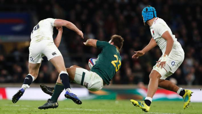 Farrell's hit in the 84th minute of England's test against South Africa went unpunished.