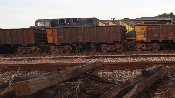BHP brought to a halt by runaway train