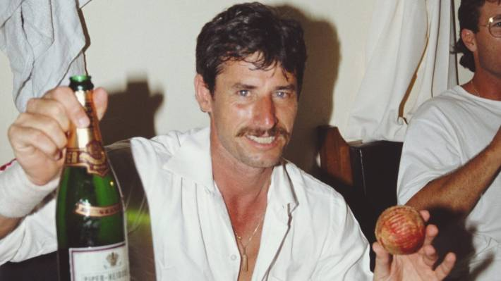 The record is his, along with the match ball, after Richard Hadlee snared his 374th test wicket in Bangalore in November 1988.