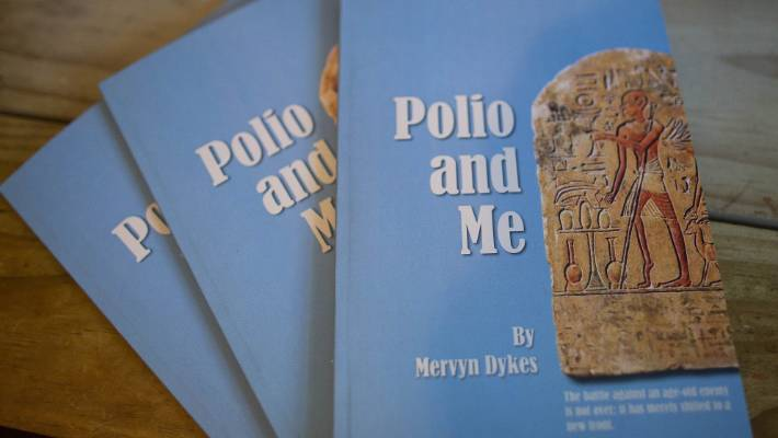 Mervyn Dykes' new book Polio and Me.