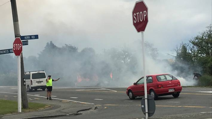 The southeast train is believed to be the cause of several fires near Rolleston on Wednesday.